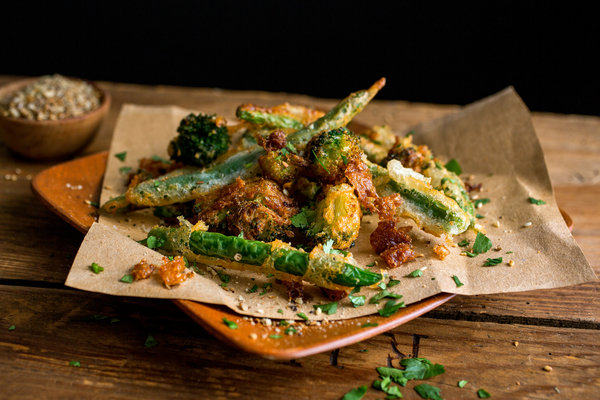 Spiced Green Beans and Baby Broccoli Tempura lifesum