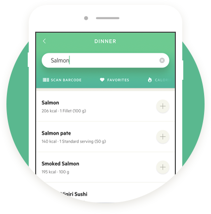 Lifesum food databse